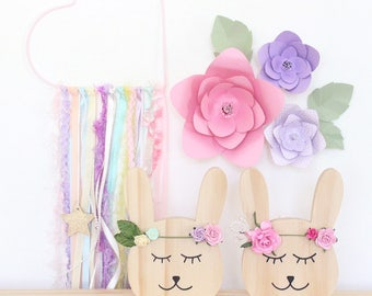 Willow Bunnie - wooden decor/ timber/nursery/baby shower gift/personalised decor/baby girl/timber decor/childrens decor