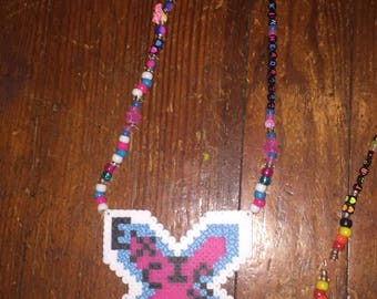 Excision Perler necklace rave Kandi