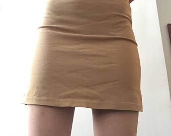 Divine Camel Miniskirt