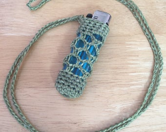 Crotchet Lighter Case/ Holder