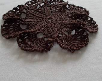 2 Brown crochet coasters, Handmade coasters, drink coaster, table decor, crochet gifts, home decor, kitchen decor, home living, coffee sets