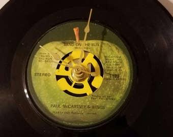 Vinyl 45 Record Clock  Paul McCartney Band on the Run