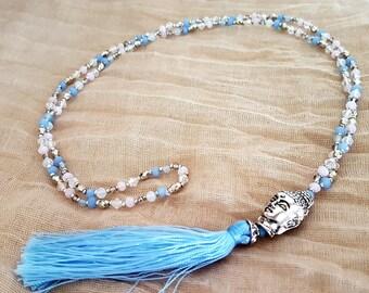 Wonderful Buddha Necklace * Meditation * Mala-style * Hippie Boho Style *