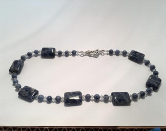 Sodalite blue necklace