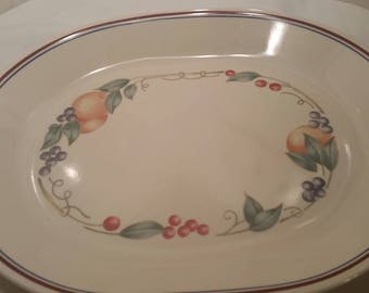 "12"" Oval Serving Platter in Abundance (Corelle) by Corning"