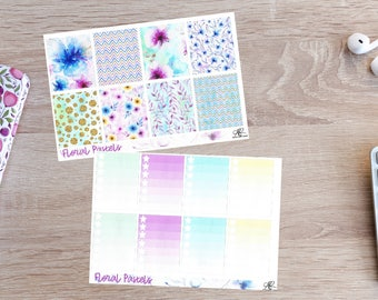 Floral pastels Full Kit Planner Stickers