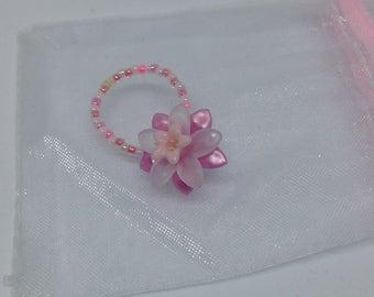 light pink flower ring