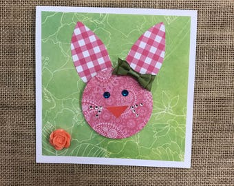 Paisley Bunny Card/Easter/Birthday/Just Because