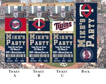 Minnesota Twins Birthday Ticket Invitation