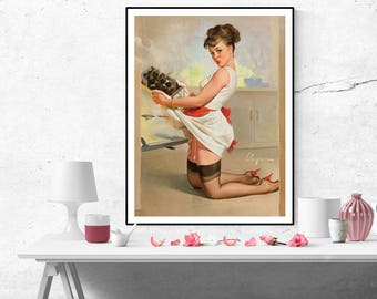Gil Elvgren Pin up Girl Vintage Art Poster Print Canvas Wall Art Painting Home decor pinup poster size A2/A3/A4