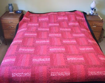 Red Rail Fence Quilt