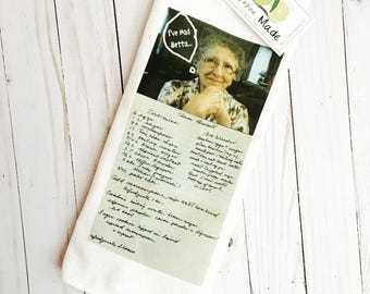 Custom Tea Towel using your photo recipe or artwork