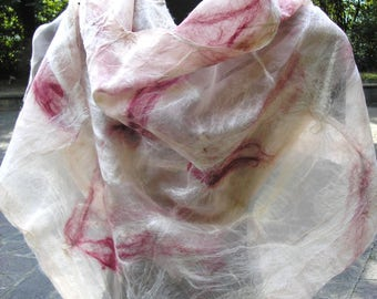 merino and silk scarves