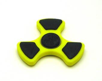 3D Printed Fidget Spinner (Yellow/Black)