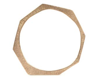 Sunrays - Brass bangle