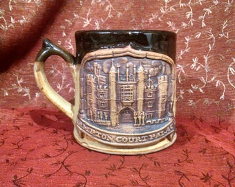 Cool Stoneware Mug with a Castle