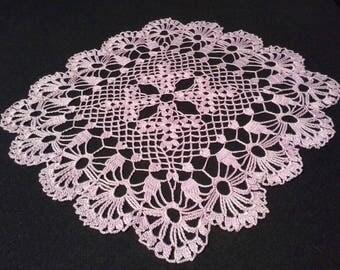 Crochet doily - Square doilies - Medium doily - Purple doily - Home decor - Crochet doilies