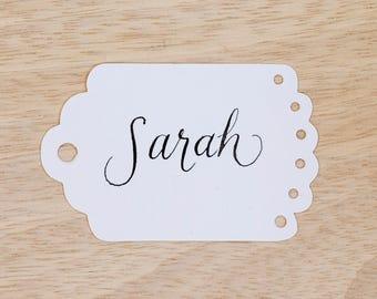 Gift tags Modern Script Calligraphy