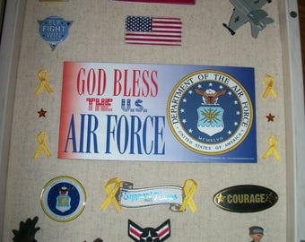 US AIR FORCE shadowbox