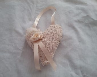 Shabby chic hanging heart