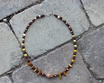 "Beaded necklace ""Golden Sun"""