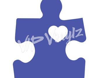 Autism Speaks Puzzle Heart