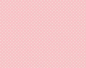 Pink or Blue Spot Fabric 100% cotton by Makower Uk