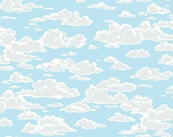 Makower Marina Sky Clouds Fabric