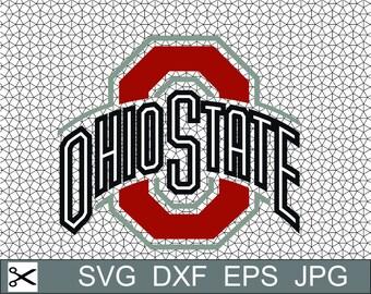 Ohio State Buckeyes Logo Layered SVG Dxf Logo Vector File Silhouette Studio Cameo Cricut Design space Template Stencil Vinyl Decal Craft