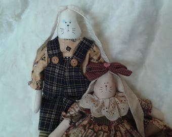Soft doll collectable doll easter doll fabric doll Tommy Bunny