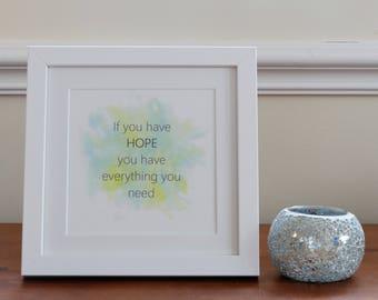 Motivational wall art- unframed