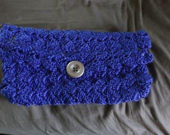 Royal purple crochet clutch