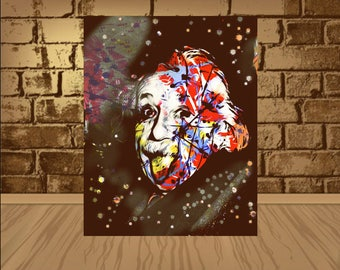 Albert Einstein Poster, Einstein Print,Albert Einstein Print, Albert Einstein Art, Home Decor, Gift Idea,Einstein poster,Einstein art,poster