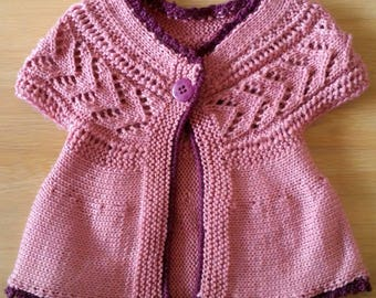 Baby girl vest of pink Gr. 62