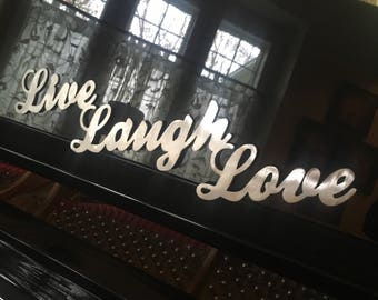Live Laugh Love metal sign