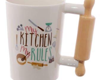Rolling Pin Handled Mug| Gift | Kitchen