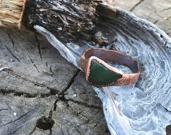 Bloodstone Ring Sz. 11 // Electroformed Jewelry
