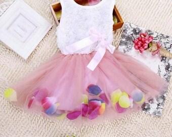 Pretty Girls Pink Bow Tutu Dress