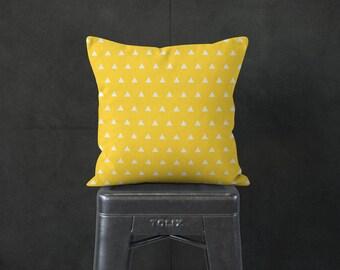 Yellow Pillow - Modern Yellow Pillow - Modern Farmhouse - Modern Home Decor -  Decorative Pillow - Textured Pillow - Accent Pillow