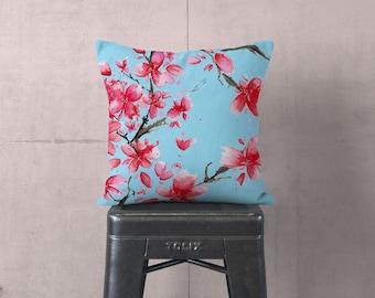 Flower Sham - Blue Pillow - Farmhouse Pillow -  Floral Pillow - Pillow Sham - Decorative Pillow - Textured Pillow - Accent Pillow