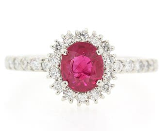 Halo Ruby & Diamond Ring