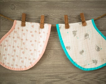 Muslin Burp Cloth PDF Sewing Pattern - Aiden and Anais Inspired