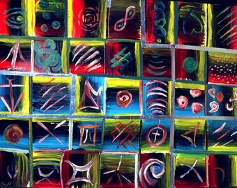 Like a Game by Em'Art - Emmanuelle Baudry, asbtract acrylic painting