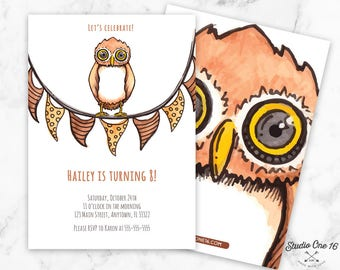 Owl Birthday Invitation, Owl Birthday Party, Owl Invitation, Owl Invite, Owl Invites, Owl themed, Owl Printable, Owl Birthday Invite, Owl