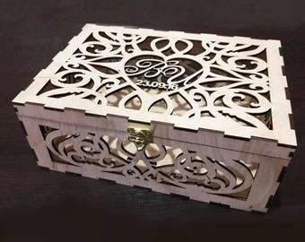 Wedding Card Box Personalized,  Personalized Wedding Decor