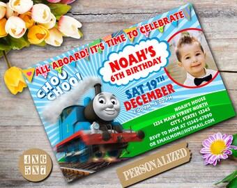 thomas the train invitation | etsy, Party invitations
