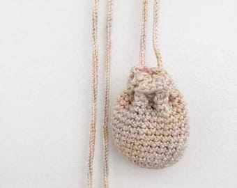 Pouch Necklace // Small // Multi Pastel