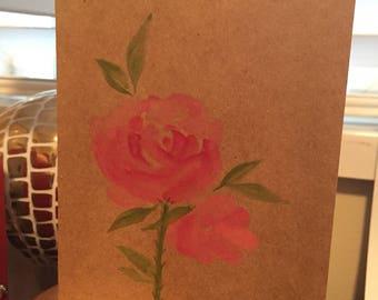 Watercolor roses card