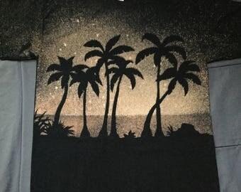 Palm Tree Night - Bleached Shirt