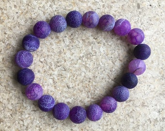 Frosted Purple Agate bracelet